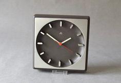 Vintage wall clock West German Aachen Quartz by MightyVintage