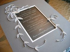Quilled Wedding Invitation | Flickr - Photo Sharing!