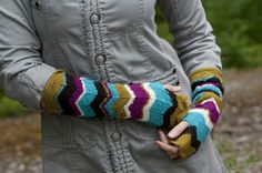 A New Day Fingerless Arm Warmers knit in Cascade 220 Fingering -   Free Pattern