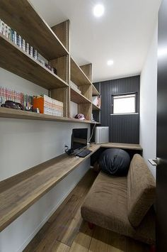 Find the best modern home office design ideas here. Small Space Interior Design, Home Office Design, Interior Design Kitchen, House Design, Home Interior, Interior Design Living Room, Space Interiors, Small Spaces, Decoration