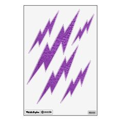 Jumbled Purple Lightening Bolts Removable Wall Decals
