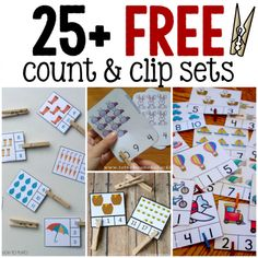 FREE Count and Clip Cards