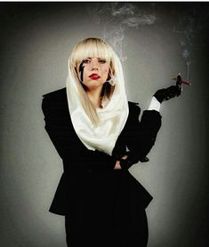 Stefani smokes