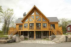 Insulated Log Cabins by Timber Block: March is one of (if not the busiest!) months for people looking to really get started with plans to build their insulated log cabins. Log Home Plans, Cabin House Plans, Log Cabin Floor Plans, Log Cabin Living, Log Cabin Homes, Log Cabins, Cabin Design, House Design, Casas Country