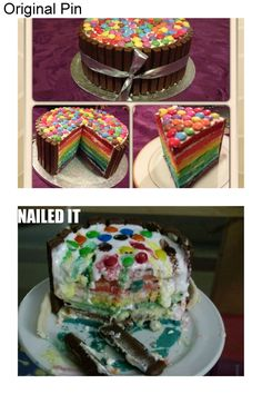 A real pinstrosity: Rainbowcake