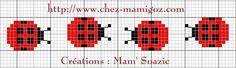 grille point de croix coccinelle - Recherche Google