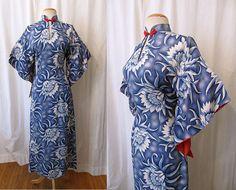 "Beautiful 1950's Hawaiian Paki Muu Dress by ""Royal Hawaiian Made in Honolulu for Liberty House"""