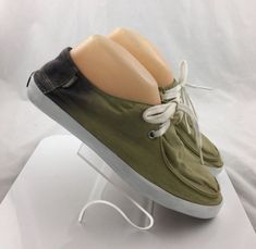 929a74773cf347 VANS Surf Siders Mens sneakers lace up Shoes size 8 M green ombre casual