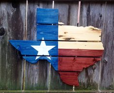 This jigsawed Texas is handmade out of pallets. The unique upcycled pallet boards are stained red, blue, and natural with a hand-painted white star. It is perfect for anyone who loves Texas! Pallet Crafts, Diy Pallet Projects, Wood Projects, Woodworking Projects, Pallet Ideas, Palette Projects, Wooden Crafts, Woodworking Shop, Woodworking Plans