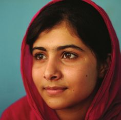 Malala Yousufzai - Teen champion of girls' rights, nominated for Nobel Peace Prize.