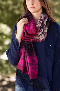 Fall Fashion, Fall Scarf, Southwestern Scarf, Fringe Scarf- Wonderland Scarf by Jane Divine Boutique www.janedivine.com