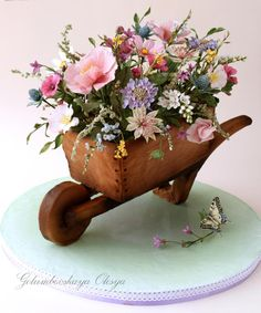 Wheelbarrow Cake by Golumbevskaya Olesya