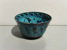 1948 Carl Walters Ceramic Pottery Bowl, Blue