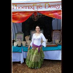 Renaissance Festival gypsy style with long layered skirts and peasant blouse. I'm wearing my large natural rainbow moonstone wire wrapped tree of life pendant by PhoenixFire Designs for a pagan, mystical, wiccan, magickal style and look available here: https://www.etsy.com/listing/196393435/eco-friendly-rainbow-moonstone-tree-of'  #gypsy #renfair #renfest #festival #boho #pagan #wicca #wiccan #witchy #witch #earth #earthy #nature #natural #rennaissance