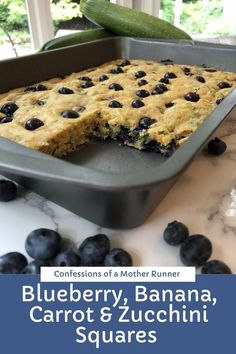 30 minutes · Vegetarian · Serves 10 · the tastiest way to bake up summer fruit and veggies. Use up your bananas, blueberries, carrot and zucchini in one delish treat