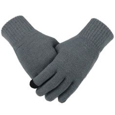 84fff1412 Knitted Gloves Winter Autumn Touch Screen Gloves High Quality Plus Thin  Velvet Solid Warm Mittens Business