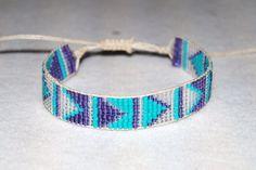 Abstract Chevron Beaded Loom Friendship by morganstudiosjewelry, $8.00