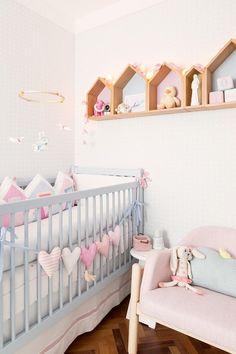 Habitación de bebé en colores pastel : La habitación de bebé que os mostramos hoy tiene unos tonos suaves y dulces. Un dormitorio decorado en colores pastel que crean un atmósfera relajada y cál