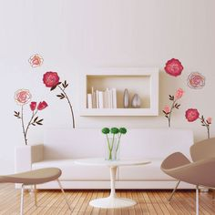 Art Applique by KMG Les Roses Decorative Wall Decal