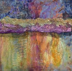 Contemporary Abstract Mixed Media Painting Love Grows Here by Santa Fe Contemporary Artist Sandra Duran Wilson -- Sandra Duran Wilson