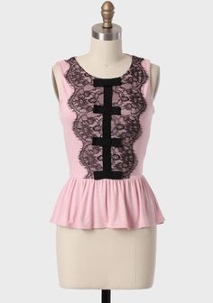 Libby Lace Detail Peplum Top at #Ruche @Ruche