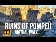 Pompeii Virtual Walk in Part 6 - -You can find Pompeii and more on our website.Pompeii Virtual Walk in Part 6 - - Home Learning, Teaching Kids, Kids Learning, Virtual Museum Tours, Virtual Tour, 6th Grade Social Studies, Virtual Travel, Virtual Field Trips, Home Schooling