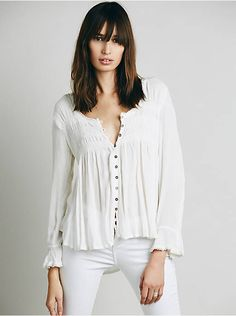 Free People Blue Bird Smocked Top, $98.00