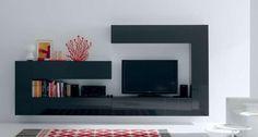 mueble lacado gris brillo de salon
