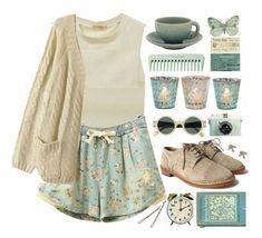 """Vintage"" by child-of-the-tropics ❤ liked on Polyvore featuring Eberjey, Jars, HANDSOM and vintage"