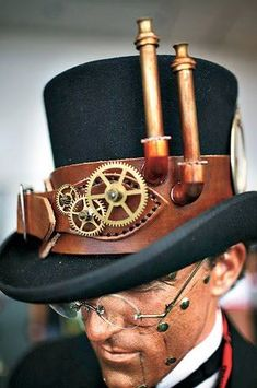 Steampunk top hat... with chimneys?