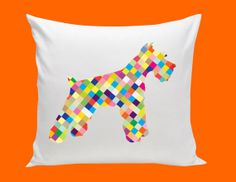 SCHNAUZER or LABRADOR cotton pillow multi color by kayciwheatley, $48.00