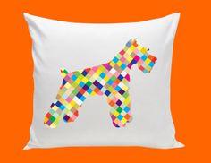 SCHNAUZER or LABRADOR cotton pillow multi color by kayciwheatley, $48.00