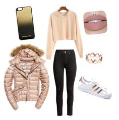 """""""Untitled #30"""" by safeta-i ❤ liked on Polyvore featuring H&M, adidas, Fuji and MICHAEL Michael Kors"""