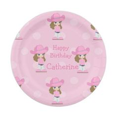 Western Cowgirl Party Pink Paper Plate  sc 1 st  Pinterest & Workshop Cowboy paper plate