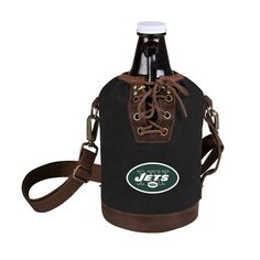 Growler Tote with Growler - New York Jets (Black)-Digital Print