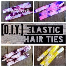 DIY Elastic Hair Ties Ponytail Holders  by ElasticHairBandz, $7.50