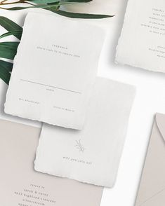 Modern and minimal type design with handmade paper for the romantic bride Romantic Wedding Stationery, Floral Invitation, Wedding Invitation Design, Minimalist Wedding Reception, Minimal Wedding, Elegant Wedding, Type Design, Custom Design, Save The Date Designs