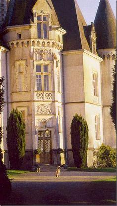Chateau des Tesnieres - Torce, Ille-et-Vilaine, Bretagne - great dog!