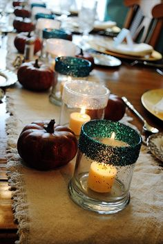 Gussied Up Dollar Store Candle Holders DIY Dollar Store Ideas   Decoration