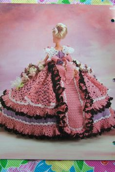 Annie's Attic Priscilla Glorious Gowns Doll Dress Crochet Pattern Old South Collection