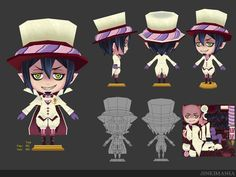3D Low polygon : Blue Exorcist Mephisto by JinkiMania on DeviantArt