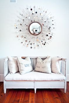 I'm obsessed with the star burst wall accent thing. But they're so darn expensive :P I love those pillows too.