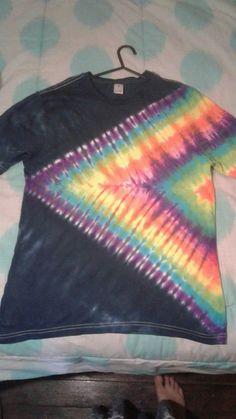 Youth 10-12 Brilliant Tie Die Tshirt Hanes Hvy Duty Cotton Hippie 60s