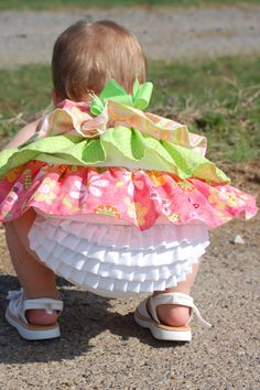 Anna's No Frills Ruffled Bloomer by MySewUniqueBowtique on Etsy, $12.99