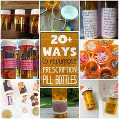 Reuse those empty prescription pill bottles in all sorts of ways. From organizing to making cookies. Yes, cookies! See how to use your empty pill bottles! Empty Medicine Bottles, Reuse Pill Bottles, Medicine Bottle Crafts, Pill Bottle Crafts, Recycled Bottles, Plastic Bottles, How To Make Cookies, Making Cookies, Prescription Bottles