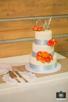 Our Cake!  Bread Basket of Camarillo, CA Topper and matching set done by Kustom Krystals (etsy)   David Brand Photography http://dbrandphoto.com/