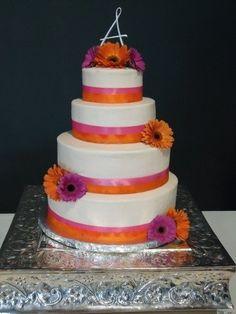 wedding cake with gerber daisies designs   Gerber Daisy Wedding - by oakleygirl77 @ CakesDecor.com - cake ...