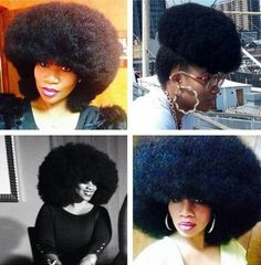 That fro is so on point! she holds the record for the world's biggest afro