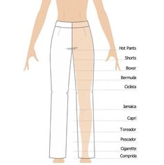 Types of pants: models and lengths - Industria Textil and clothing - Textile Industry - Year VIII Fashion Terminology, Fashion Terms, Fashion Pants, Diy Fashion, Ideias Fashion, Clothing Patterns, Dress Patterns, Mode Du Bikini, Fashion Dictionary