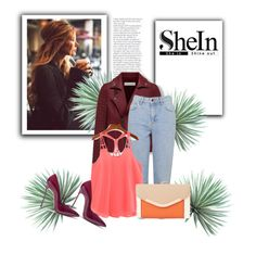 """""""SHEIN CONTEST SET"""" by irma-06 ❤ liked on Polyvore featuring Topshop, New Look, Casadei and Agave"""